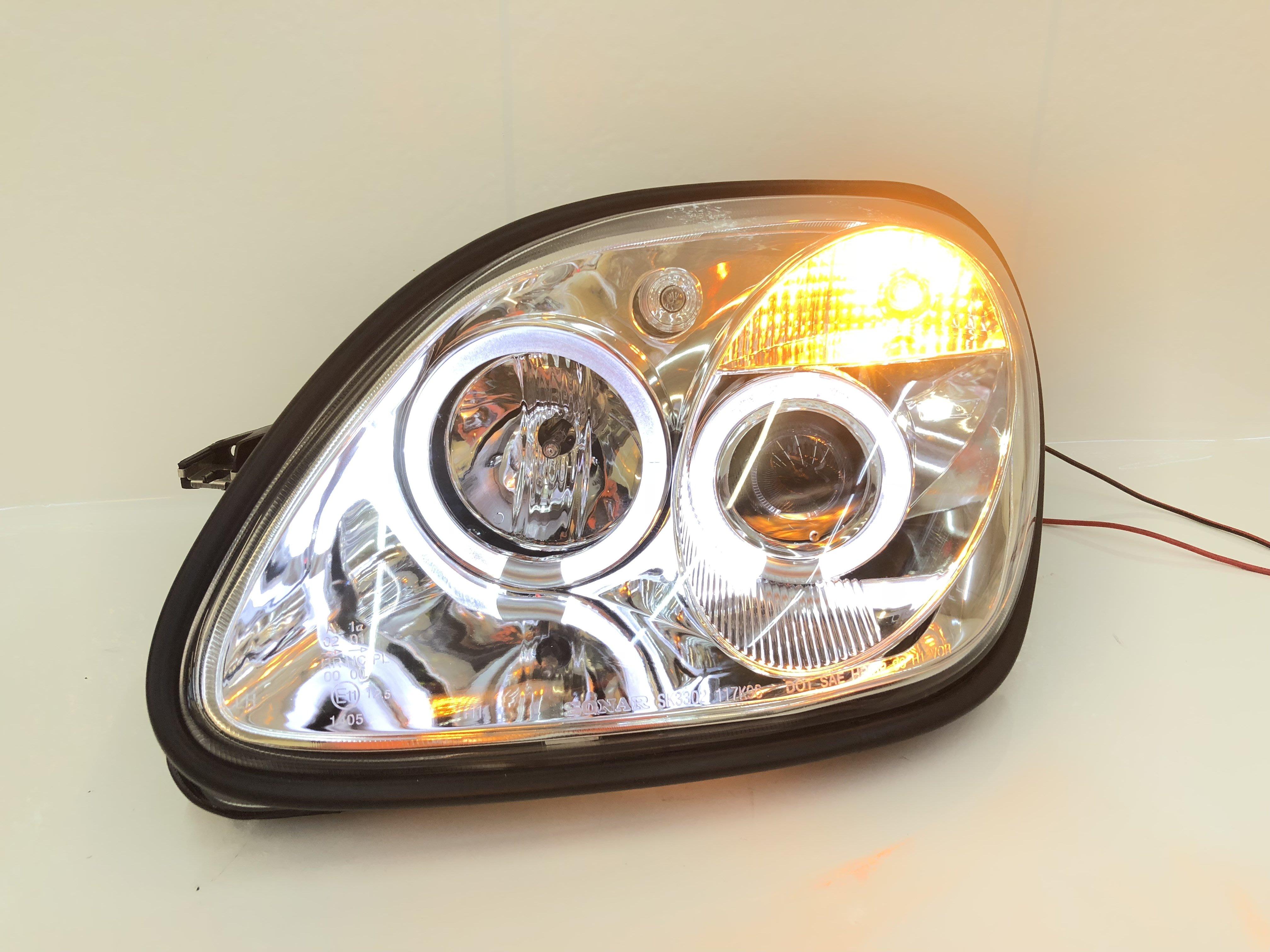 【合豐源 車燈】R170 大燈 頭燈 LED 光圈 96-02年 SLK 200