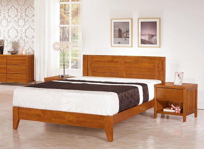 凱西南洋風情5尺柚木色實木雙人床架 床台