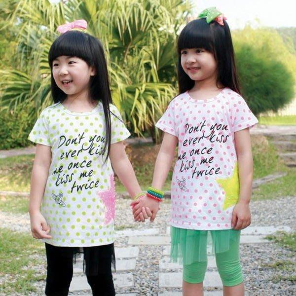 【班比納精品童裝】星星亮片點點上衣-粉【BD140423010】