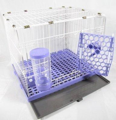 *優比寵物*歐式簡約610-S款全配寵物籠(底盤抽正式)寵物屋/狗籠/貓籠/兔籠(附自動餵食器/飲水器)台灣製造-