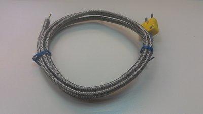 TECPEL 泰菱電子 》熱電偶溫度測線 K-TYPE TPK-01H-1M -50℃ ~ 1200℃ 高溫INCO