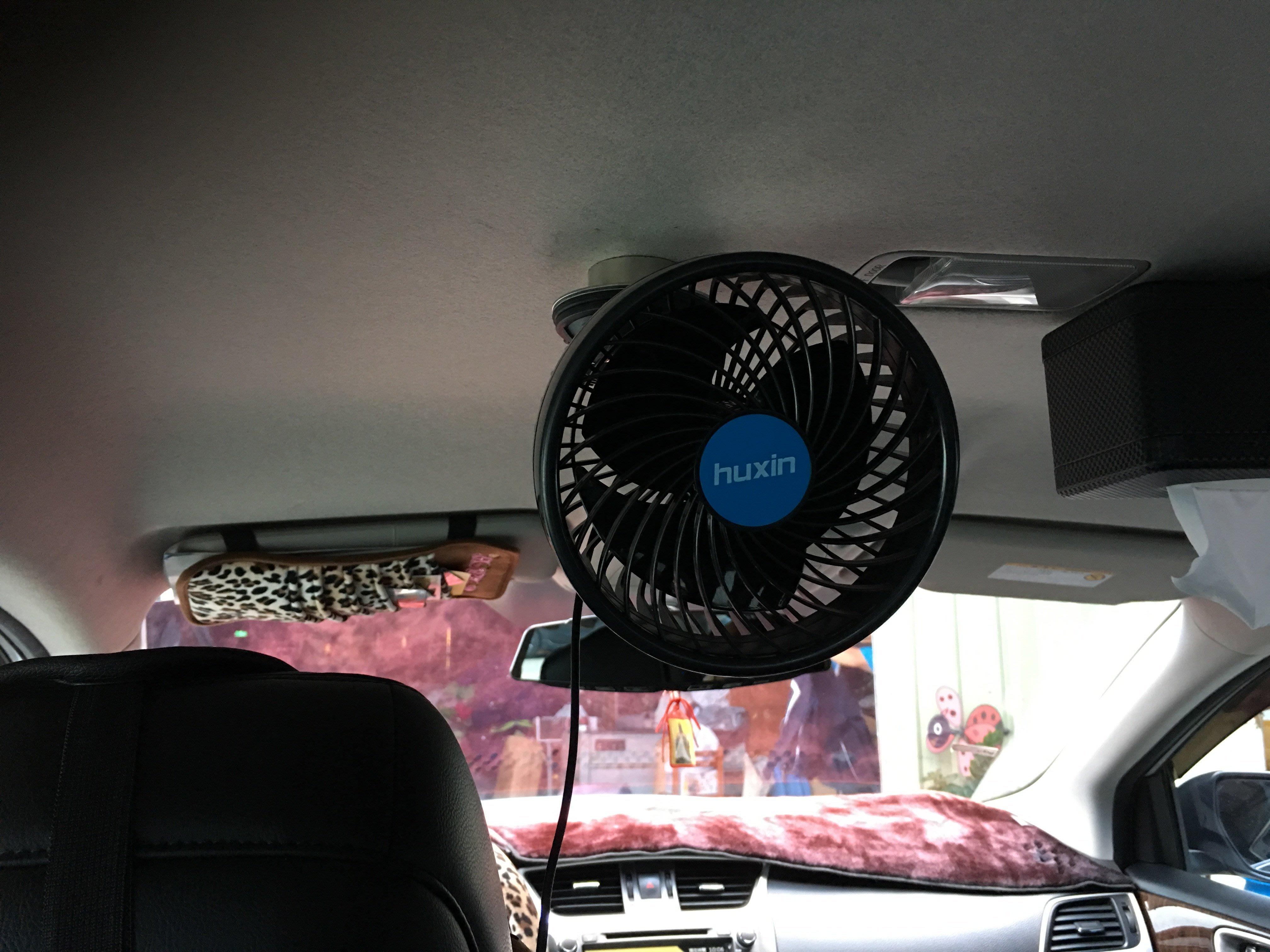 """(另有USB版)湖鑫新款 6""""車用風扇 車頂磁吸6""""風扇 吸頂風扇 車頂風扇 磁吸風扇 無極調速"""