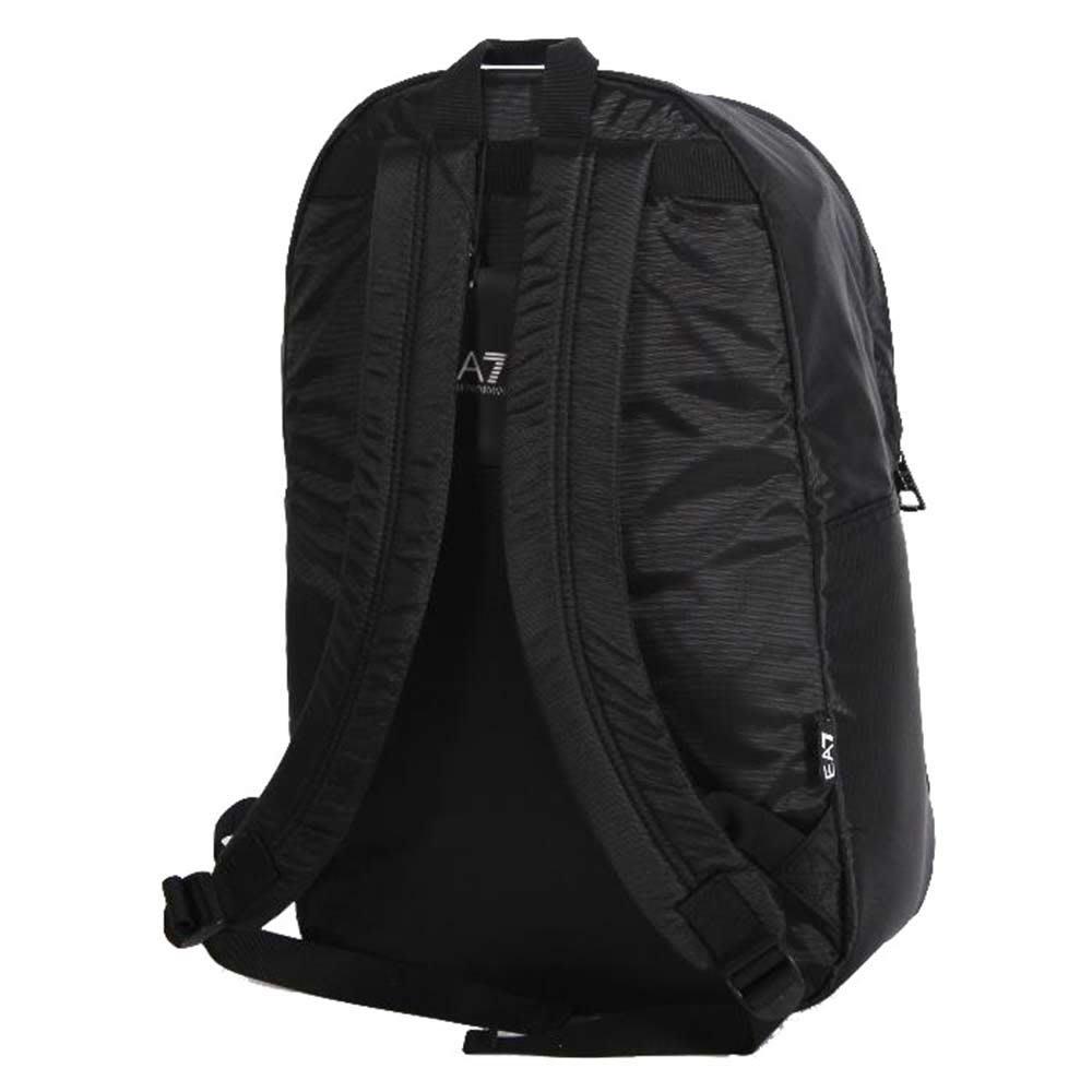 EMPORIO ARMANI EA7 經典品牌圖騰LOGO後背包(黑)