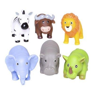 ♡NaNa Baby♡ 美國Elegant Baby 洗澡玩具6入組- 森林動物派對 #40576