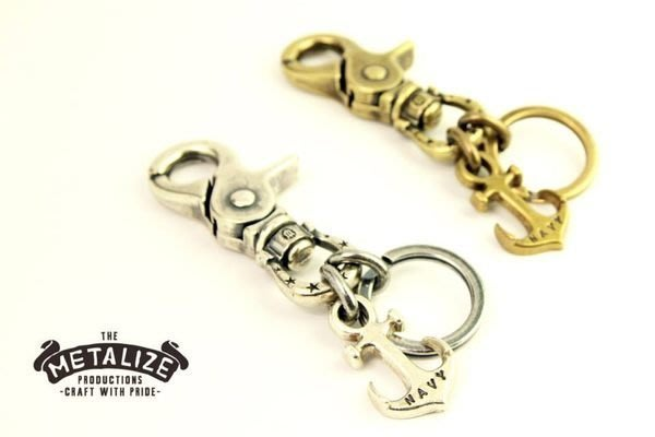 GOODFORIT / 台灣飾品品牌METALIZE NAVY星星馬蹄扣船錨鑰匙圈