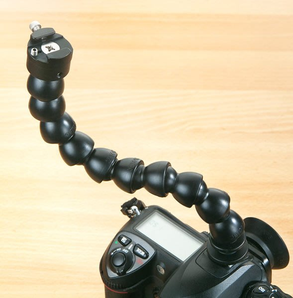 呈現攝影-SKIER 強化軟管怪手 24cm 熱靴座 支架 攝影棚 L架 離機設備/閃光燈/螢幕/麥克風※