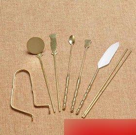 【香道用具-入門七件套-純銅本色-7件/套-1套/組】香道工具七件套香道用品工具-7501021