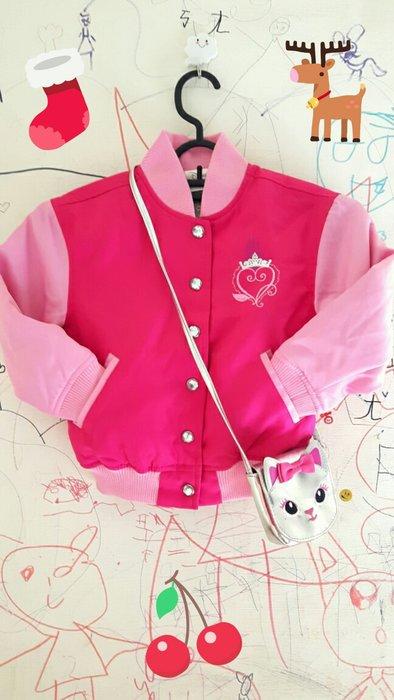 小小瑕疵出清,女寶寶幼兒可愛迪士尼公主棒球外套