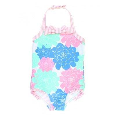 ♡NaNa Baby♡ 美國RuffleButts 正品【連身泳裝- 粉嫩花瓣 】SWSWHXX-H1PP