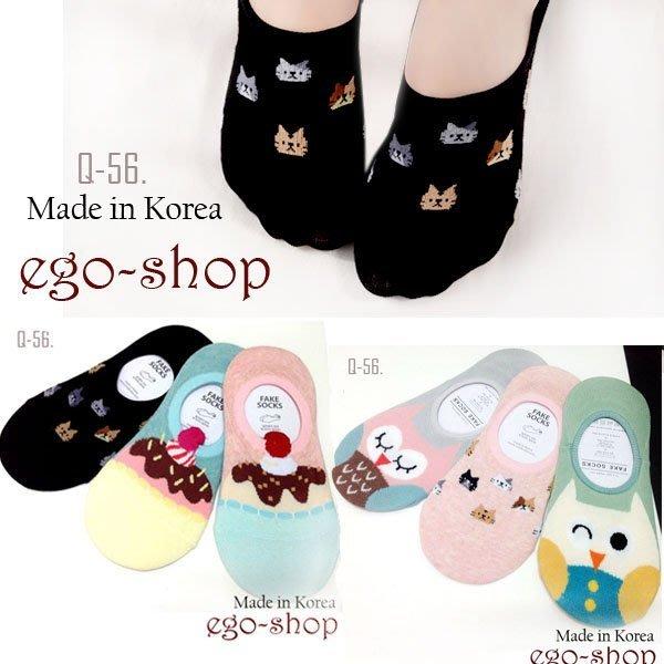 EGO-SHOP韓國空運-可愛貓咪隱形船型襪Q-56