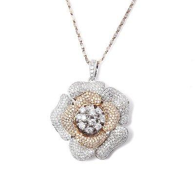 【JHT 金宏總珠寶/GIA鑽石專賣】2.50ct天然玫瑰花造型墜鍊/材質:18K(D000047)