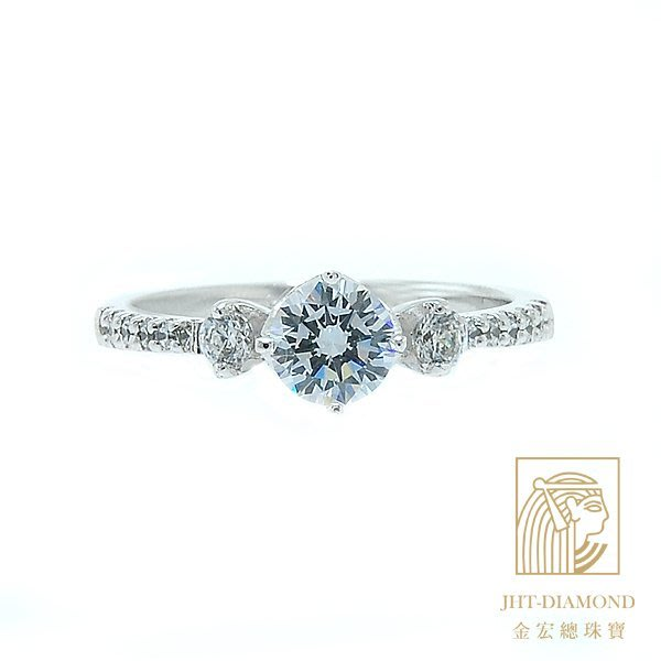 【JHT 金宏總珠寶/GIA專賣】婚戒/鑽戒 女鑽石戒台 (不含搭配主鑽)JRM046