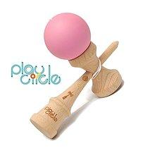 PLAY CIRCLE 劍玉 劍球KENDAMA 橡皮漆 粉色限版 贈腰掛包  收納袋