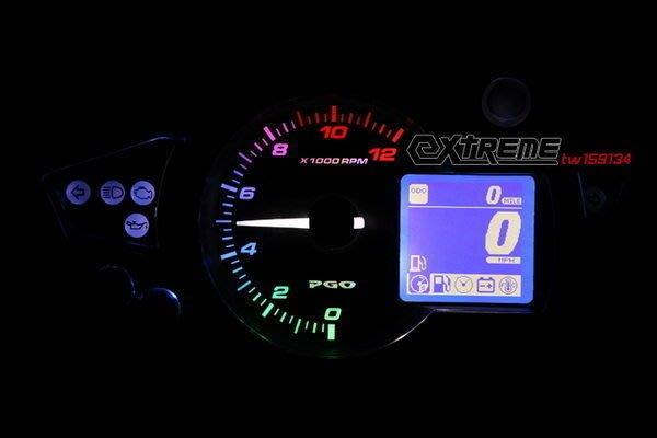 [極致工坊] 全台第一 PGO X-HOT 150 125 高反差 五色背光 炫彩轉速 指針背光 偏光板
