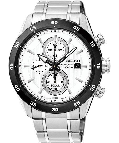 SEIKO精工 Criteria三眼計時腕錶(SSC535P1)-白x銀/44mm V176-0AR0W驚喜價