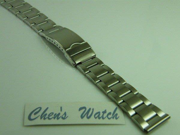 錶帶屋 14mm 16mm 18mm 20mm平頭不鏽鋼製單折扣錶帶有效替代 現貨商品