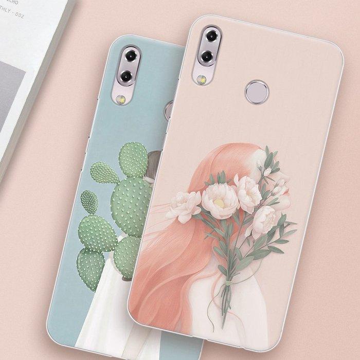 華碩 Asus Zenfone 5 5z ZS620KL ZE620KL手機殼 2018版 高清彩繪硅膠軟套文藝女款防摔