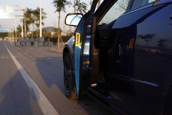 YP逸品小舖 汽車車門反光貼紙 OPEN 開門警示貼 一組4片入 兩色可選 美觀 安全