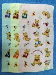 【B合併商品】1425 花籃熊印花童巾 台灣製 $280/12條