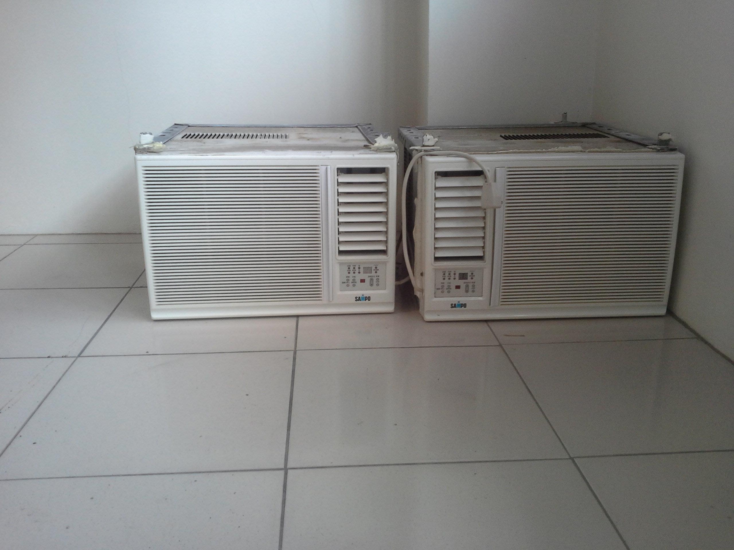 新竹國聖二手家電 SAMPO聲寶 左吹窗型冷氣機 1噸 2500kcal (適用5坪空間) 有維修保固 舊機回收