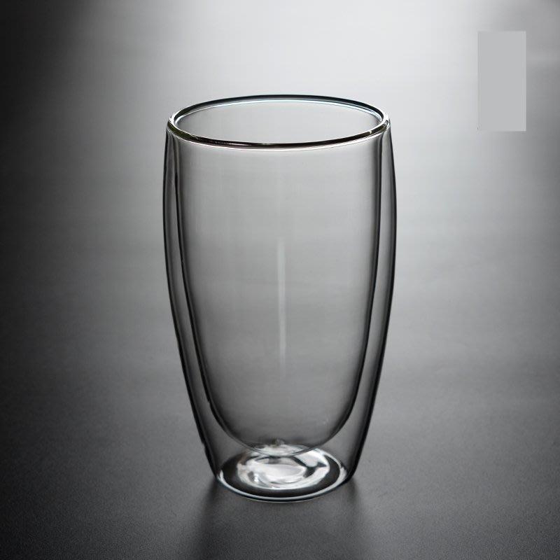 《桀米咖啡》450ml 蛋形雙層玻璃杯 保溫隔熱 水杯 咖啡杯 茶杯 高硼矽耐熱杯【丹麥-Bodum、星巴克可參考】