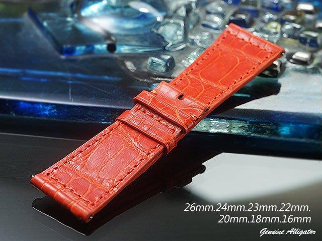 【時間探索】 全新純正鱷魚皮 Franck Muller  代用進口高級錶帶-快拆式  ( 26mm )