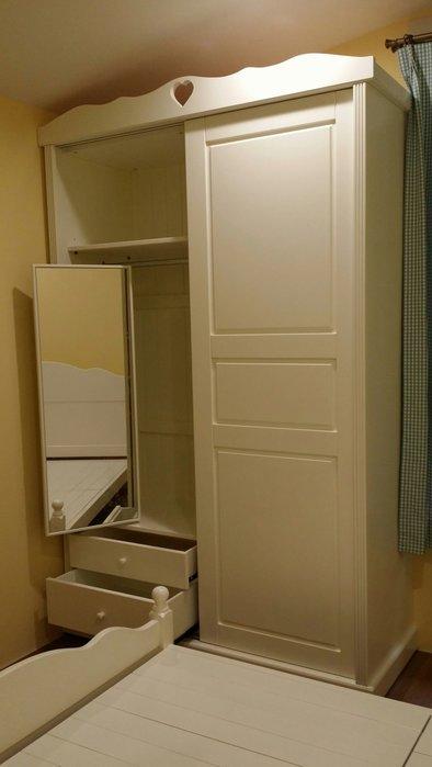 美生活館客訂全原木心型白色 雙推門 五尺衣櫃衣櫥(附鏡)置物櫃收納櫃店面居家民宿餐廳可依尺寸顏色再報價
