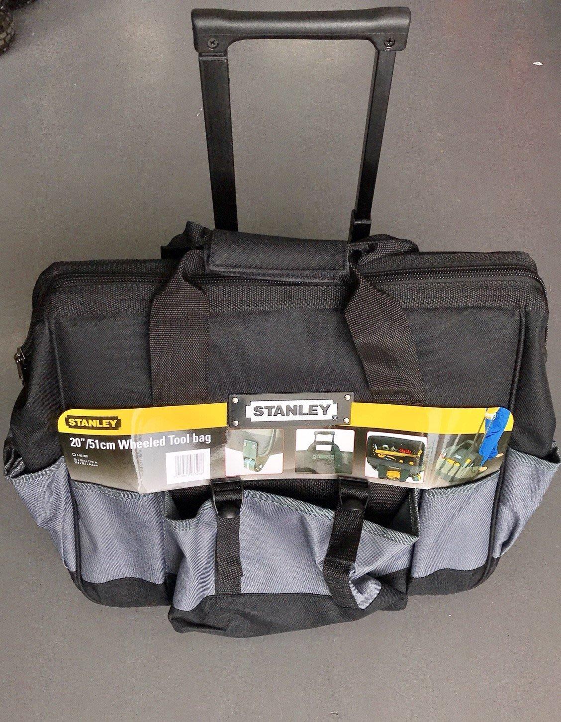 """*久聯五金* STANLEY 史丹利 93-328-23 20"""" 拉桿式滑輪工具袋 收納包 工具包 拉式工具袋"""