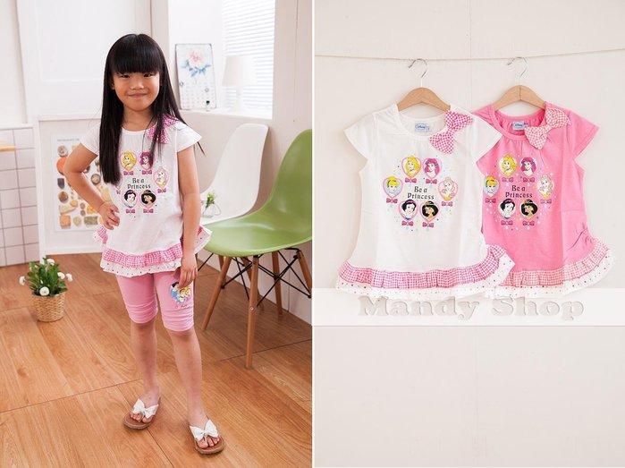 mandyshop~3160~ 製㊣ Disney迪士尼  公主100%純綿短袖上衣 T恤