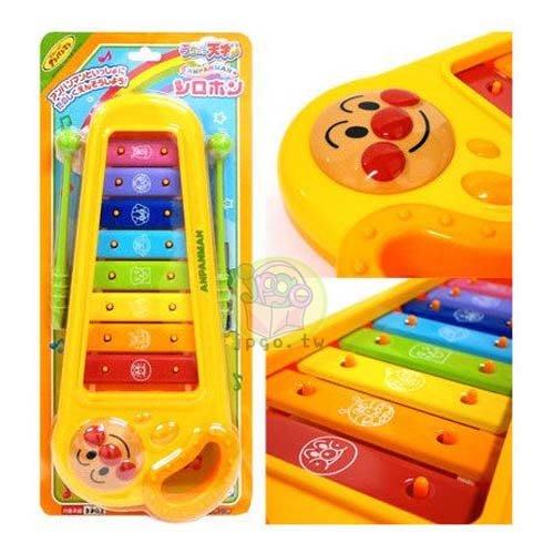 【JPGO日本購】日本進口 ANPANMAN 麵包超人 可手提彩紅色 鐵琴樂器玩具#398