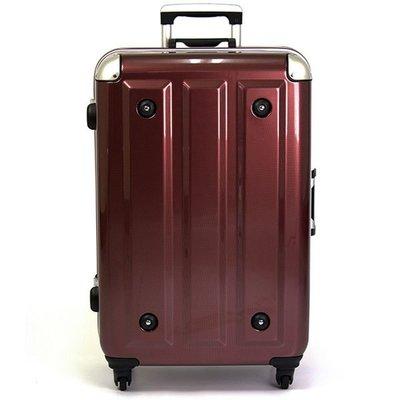 【aaronation】18吋-MOM日本品牌 PC鋁框行李箱(RU-3008-18-酒紅) 賣場1