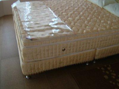 尊爵床墊~4線上墊5.5CM純天然乳膠護背雙層高獨立筒床墊雙人5尺11500