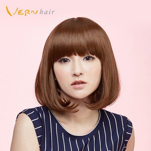 韋恩假髮-整頂-短髮-及肩C字鮑伯頭-日系內彎/韓系外捲-不打結日本高仿真髮絲-Vernhair【VH10937】