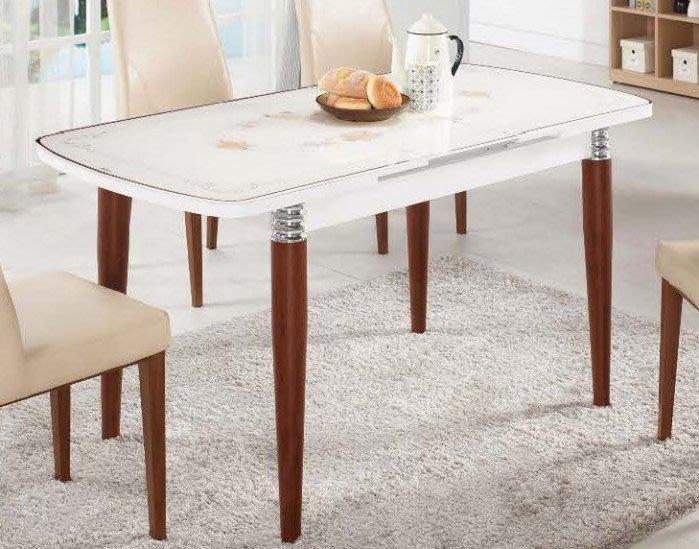 【DH】商品貨號G973-3商品名稱《爾凱》玻璃折桌(圖一)不含餐椅。可收合120~150CM拉開。主要地區免運費