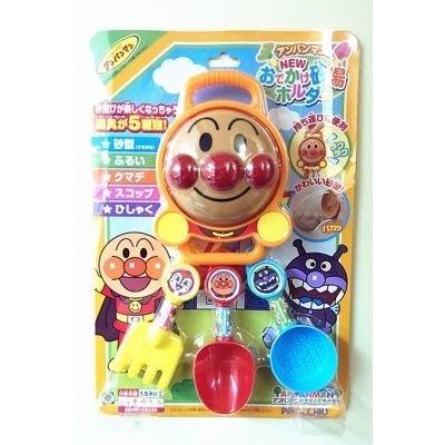 日本正版 麵包超人 挖沙玩具組 海灘玩具 玩沙玩具組 5件組310476