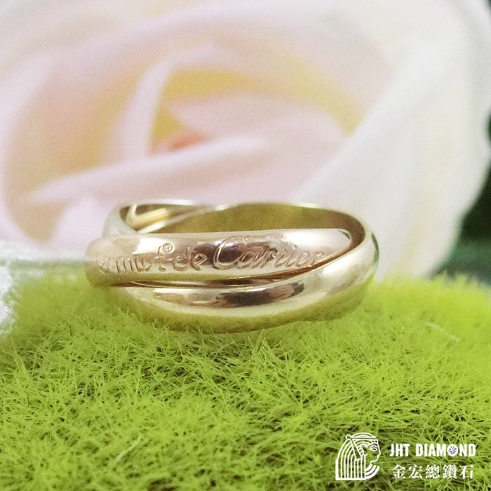 【JHT金宏總珠寶/GIA鑽石專賣】Cartier 三環戒 ( JB23-A020)