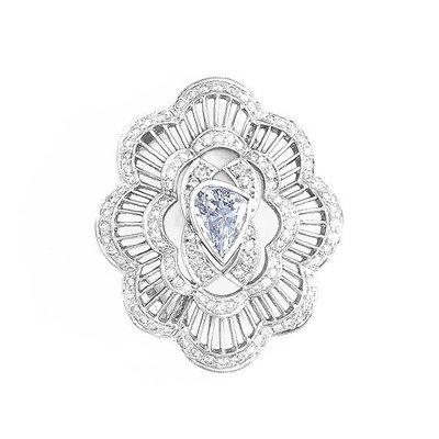 【JHT金宏總珠寶/GIA鑽石專賣】0.95ct天然鑽石胸針/材質:14K(Z00004)