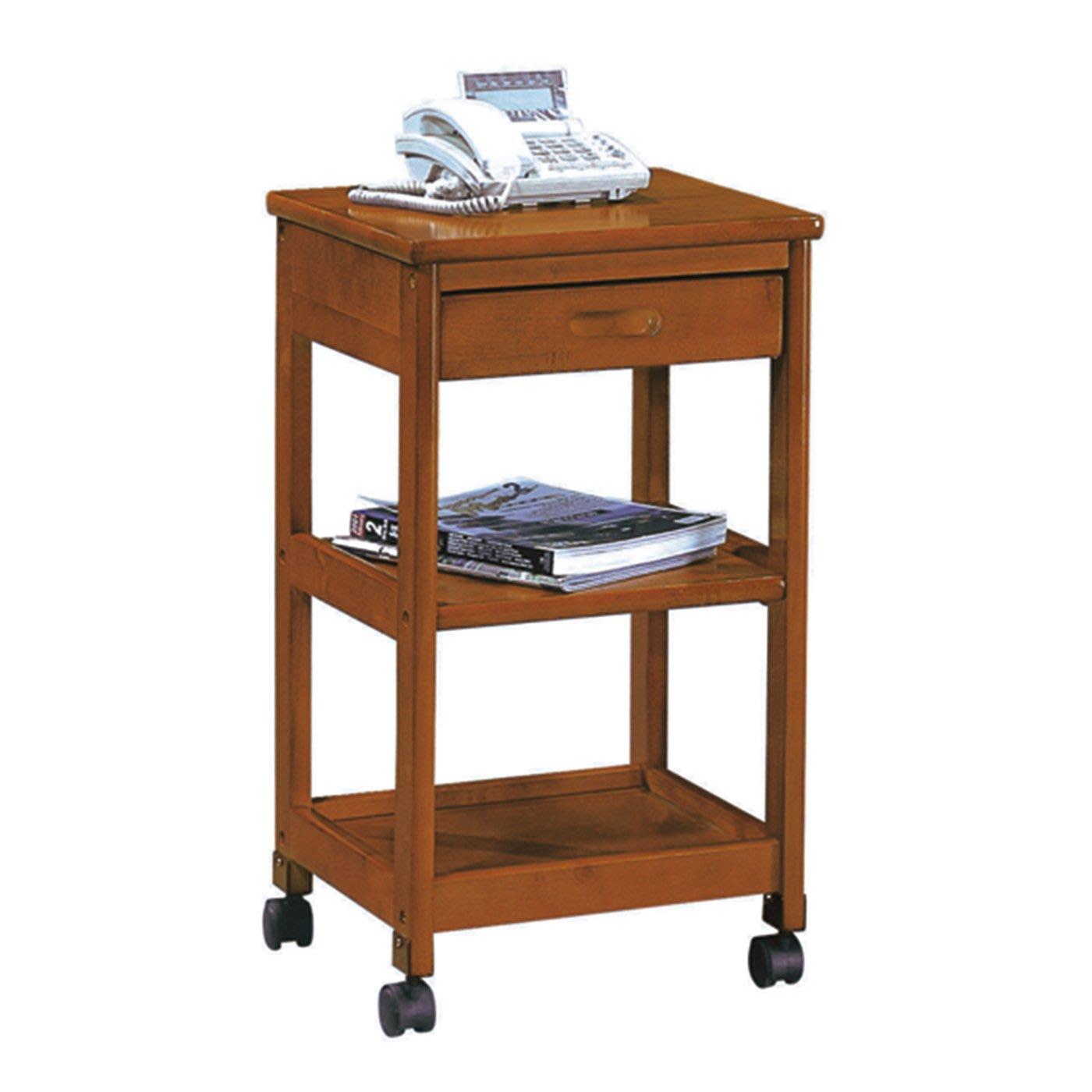 【在地人傢俱】18 簡單購-實木1.2尺三層單抽收納櫃/置物架/活動架~DIY LC46810