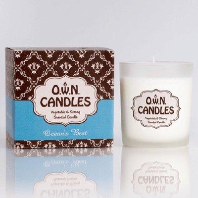 【宇優生技】最便宜 歐洲限量 頂級進口 O.W.N.雪白 海洋最佳香水味 香氛蠟燭禮盒 天然 有機 大豆 交換禮物首選
