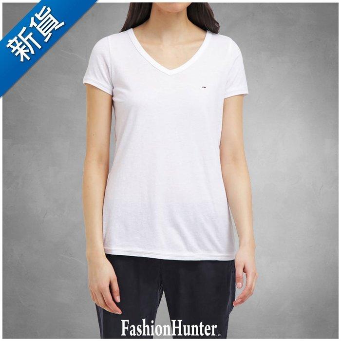 新貨【FH.cc】Tommy V領短袖T恤 白 刺繡Logo 女童款 純棉 素t A&F