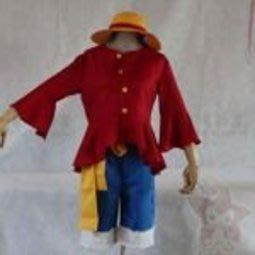 【紫色風鈴】海賊王路飛COS 兩年後二代 魯夫 cosplay衣服cos道具服裝+帽子