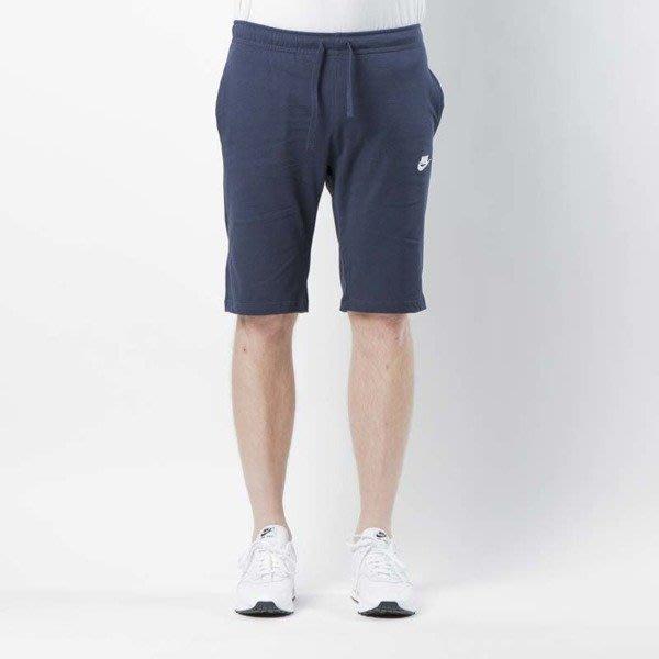 【ARON】Nike Shorts 短棉褲 棉褲 大勾 勾勾 針織 小logo 短褲 黑 灰 深藍 804419-451