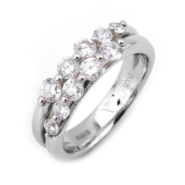 【JHT 金宏總珠寶/GIA鑽石專賣】1.00ct天然鑽石造型線戒/材質:PT900/(JB29-A17)