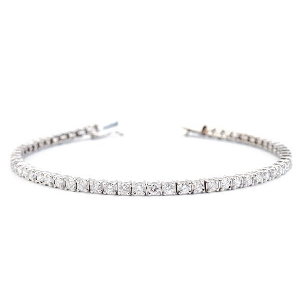 【JHT 金宏總珠寶/GIA鑽石專賣】2.38ct天然造型鑽石手鍊/材質:14K(D000049)