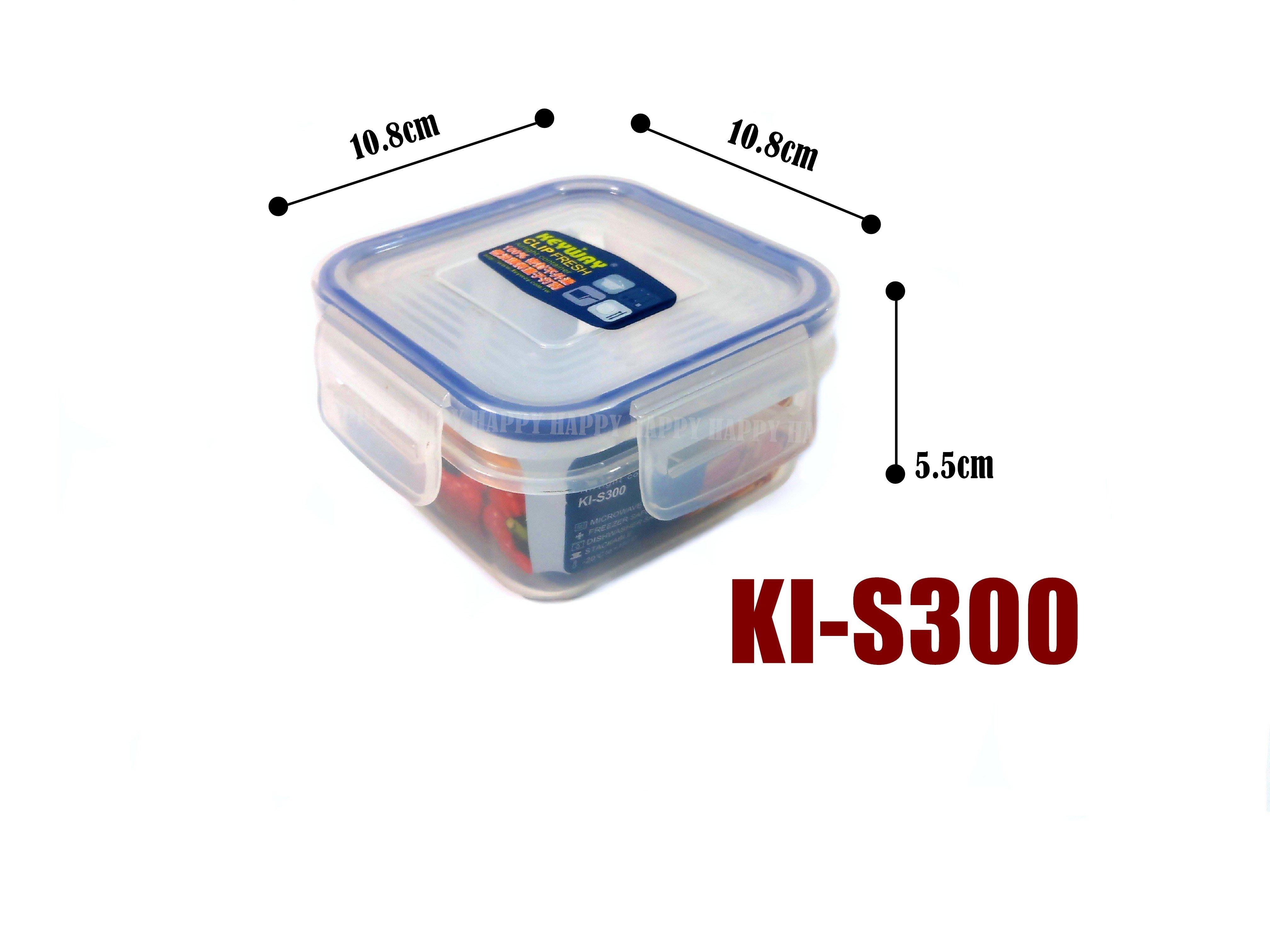 [歡樂廚房] KEYWEY 聯府 KI-S300 天廚長型保鮮盒 密封盒 扣式 300ml 台灣製