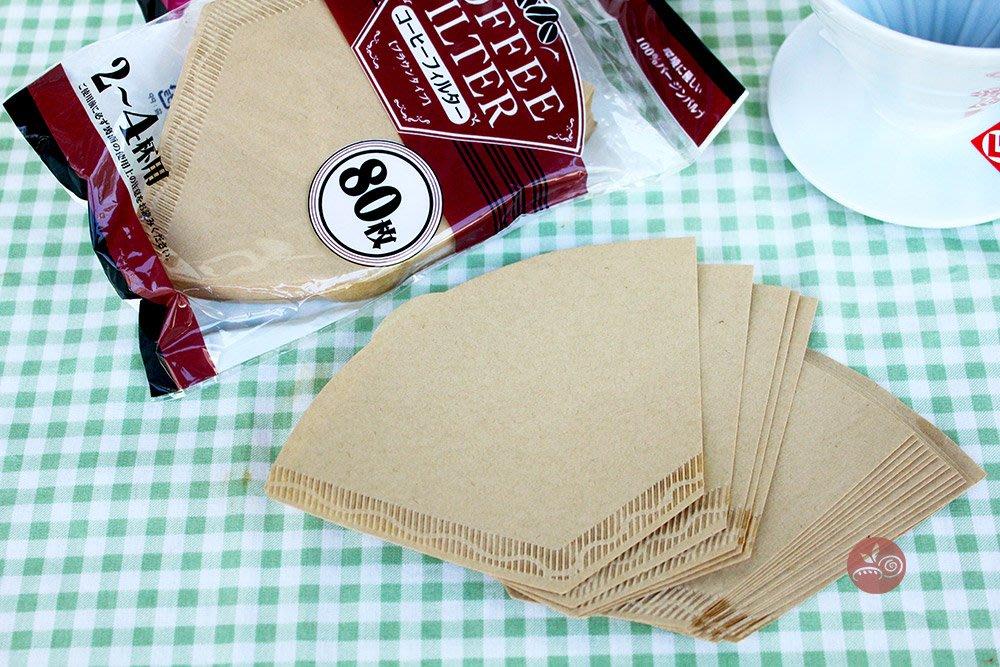Maruki咖啡濾紙80枚(無漂白)_2-4杯_062127◎無漂白.咖啡.濾紙.2至4杯份量.咖啡濾紙