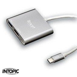 【開心驛站】INTOPIC 廣鼎 USB3.0 Type-C三合一轉接器 HBC-360