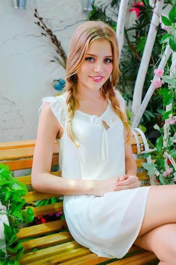 ~Putin`s shop~品牌Mirror米洛 優雅雪紡氣質洋裝~白~S
