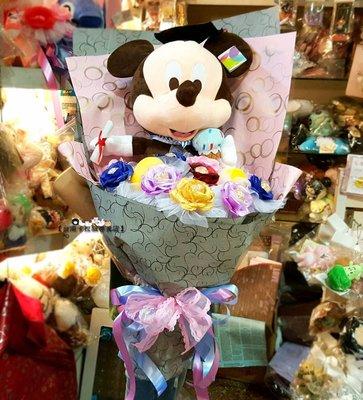 台南卡拉貓專賣店 迪士尼 米奇主題花束 直立式花束 金莎花束 情人節送禮 求婚 畢業 生日 可繡字 可明天到