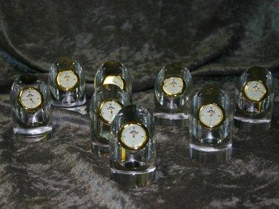 【耘之精品】水晶玻璃工艺 迷你水晶钟 半圆斜面 (量大可雷雕或喷砂图文) 退休 毕业 纪念礼品